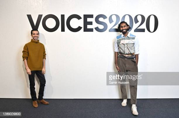 Imran Amed and Aaron Christian pose during BoF VOICES 2020 on December 02, 2020 in London, England.