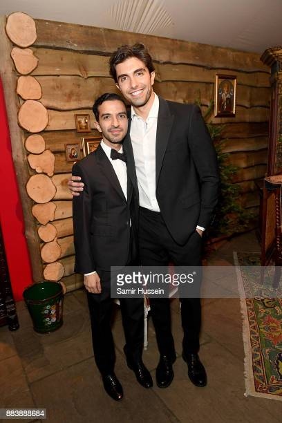 Imran Amed and Akin Akman attend the gala dinner during #BoFVOICES on December 1 2017 in Oxfordshire England