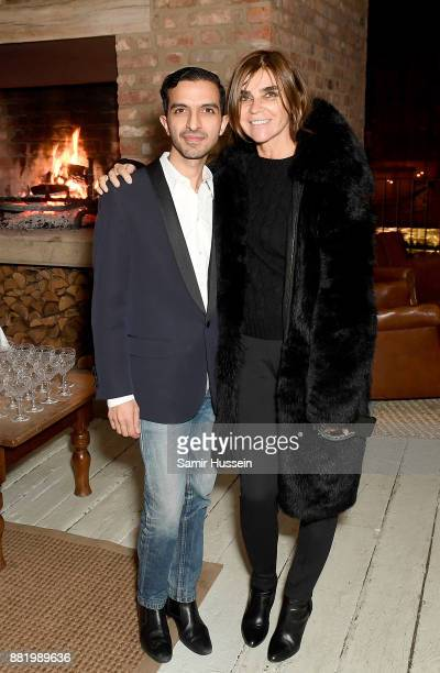 Imran Amed and Carine Roitfeld attend the welcome dinner during #BoFVOICES on November 29, 2017 in Oxfordshire, England.