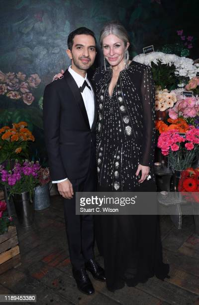 Imran Amed and Carmen Busquets attend the gala dinner in honour of Edward Enninful winner of the Global VOICES Award 2019 during #BoFVOICES on...