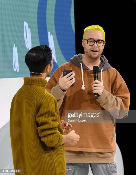 Imran Amed and Christopher Wylie speak during #BoFVOICES on November 22, 2019 in Oxfordshire, England.