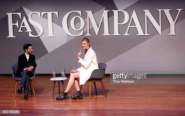 Imran Amed and Karlie Kloss attend Fast Company Innovation Festival 2016 Karlie Kloss on November 1 2016 in New York City