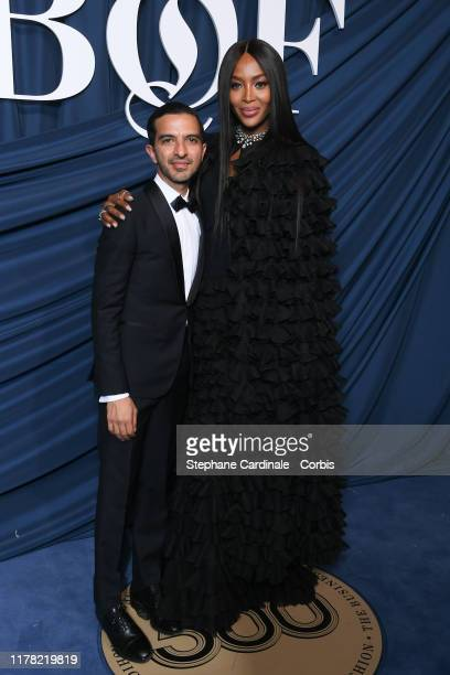 Imran Amed and Naomi Campbell attend the #BoF500 gala during Paris Fashion Week Spring/Summer 2020 at Hotel de Ville on September 30, 2019 in Paris,...