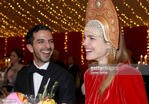 Imran Amed and Natalia Vodianova at the gala dinner during #BoFVOICES on December 1 2017 in Oxfordshire England