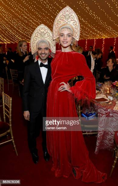Imran Amed and Natalia Vodianova attend the gala dinner during #BoFVOICES on December 1 2017 in Oxfordshire England