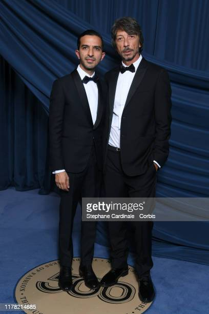 Imran Amed and Pierpaolo Piccioli attend the #BoF500 gala during Paris Fashion Week Spring/Summer 2020 at Hotel de Ville on September 30, 2019 in...