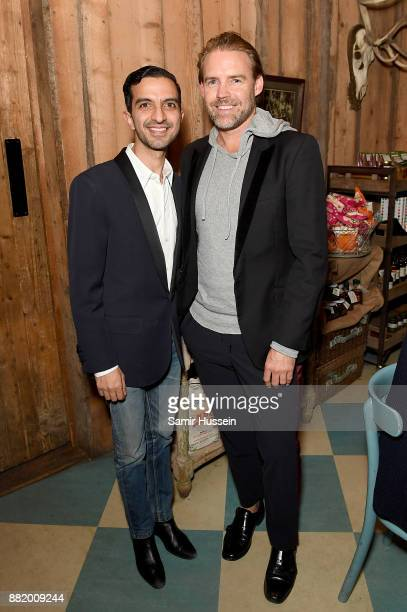 Imran Amed and Stuart Miller attend the welcome dinner during #BoFVOICES on November 29 2017 in Oxfordshire England