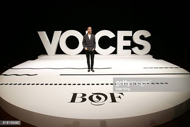 Imran Amed, CEO and Founder of Business of Fashion poses during the Business of Fashion Presents VOICES at Sydney Opera House on March 30, 2016 in...