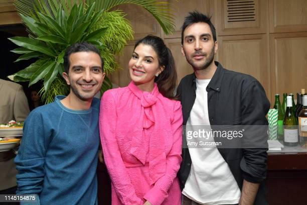 Imran Amed, Jacqueline Fernandez and Nikhil Mansata attend an intimate dinner in celebration of BoF West 2019 at San Vincente Bungalows on April 25,...
