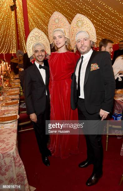Imran Amed Natalia Vodianova and Alexandre De Betak attend the gala dinner during #BoFVOICES on December 1 2017 in Oxfordshire England