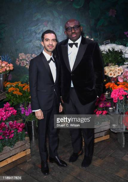 Imran Amed with Edward Enninful attending the gala dinner in his honour, for winning of the Global VOICES Award 2019, during #BoFVOICES on November...