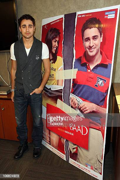 Imran Khan attends a press conference for 'Break Ke Baad' at Reliance Big Pictures Studio on November 14 2010 in New York City