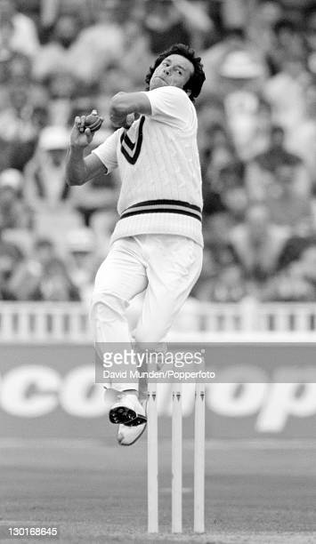Imran Khan bowling for Pakistan during the 3rd Texaco Trophy one day International against England at Edgbaston in Birmingham 25th May 1987 England...