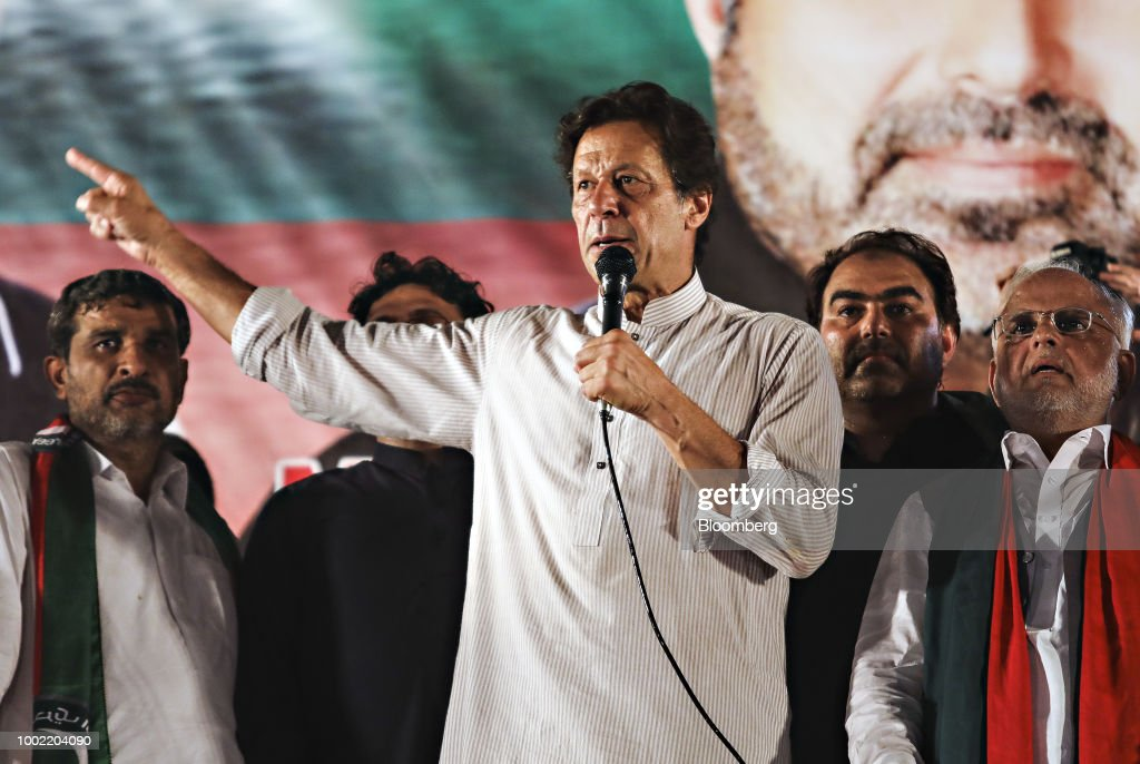 Pakistan's Opposition Leader Imran Khan Holds Campaign Rally Ahead of Elections : News Photo