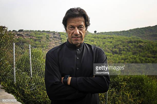 Imran Khan chairman of Pakistan TehreekeInsaf poses for a photograph in Islamabad Pakistan on Saturday Dec 5 2015 India and Pakistan need leaders who...