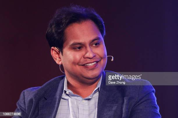Imran Khan, Chief Strategy Officer of Snap, speaks during Fireside Chat on Day 3 of CNBC East Tech West at LN Garden Hotel Nansha Guangzhou on...