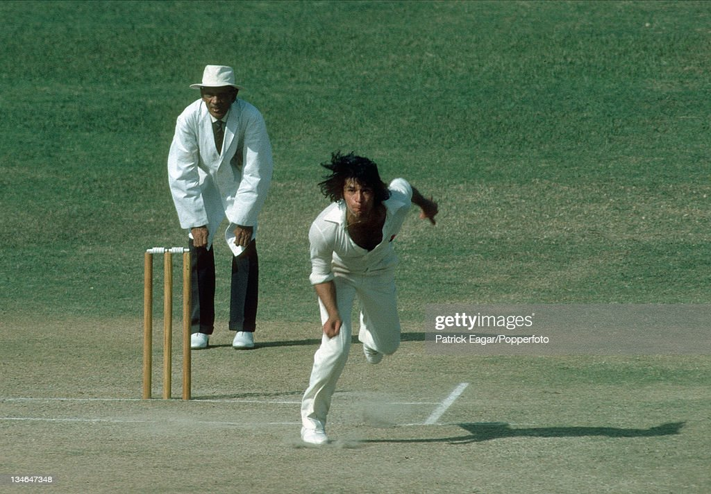 Imran Khan Pakistan v India 2nd Test Lahore Oct 197879