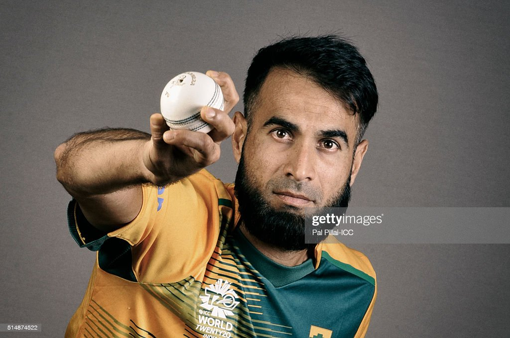 Imran Tahir of South Africa poses during the official photocall for the ICC Twenty20 World on March 11, 2016 in Mumbai, India.