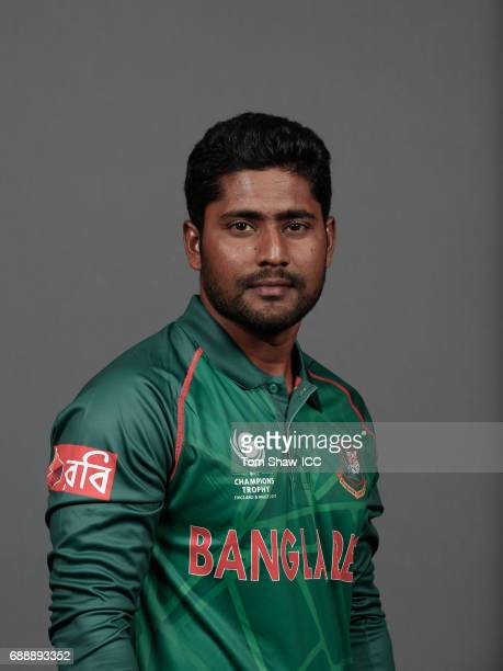 Imrul Kayes of Bangladesh poses for a picture during the Bangladesh Portrait Session for the ICC Champions Trophy at Grand Hyatt on May 26 2017 in...