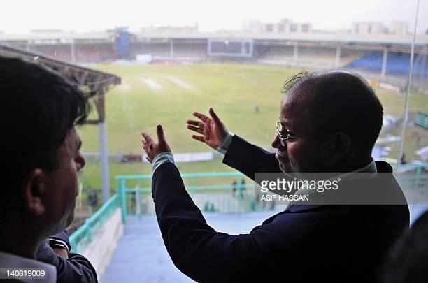 Imtiaz Ahmed security advisor for the Bangladeshi Cricket Board visits the National Stadium in Karachi on March 3 2012 Bangladesh promised Saturday...