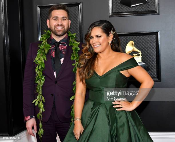 Imua Garza and Kimie Miner attends the 62nd Annual GRAMMY Awards at Staples Center on January 26 2020 in Los Angeles California