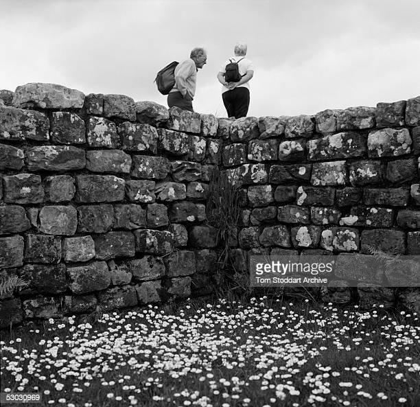 In 122AD the Emperor Hadrian began to build a 73 mile fortified wall across northern England between the Solway Firth in the west and the River Tyne...