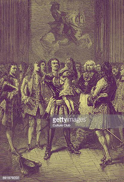 In 1717 when only seven years old Louis XV received a visit from Peter the Great of Russia who seeing a delicate little boy picked the child up to...
