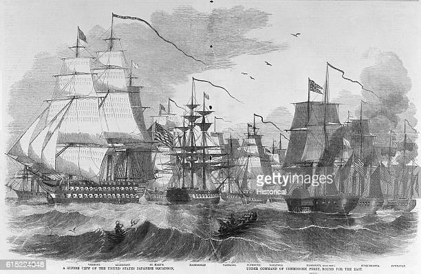 In 1853 Commodore Matthew Perry led a squadron of United States warships to Japan on a diplomatic mission Included in the squadron are the ships...