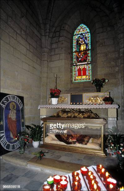 In 1868 the inhabitants of the village obtained the relics of Saint Valentine in order to protect the vineyard from phylloxera which spread in France...