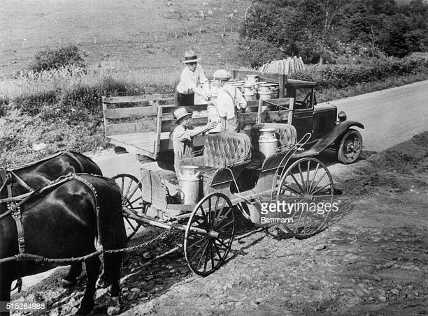 In 1929 this Ashe County North Carolina farmer brought his milk up to the highway to have it picked up and delivered to the dairy for processing In...