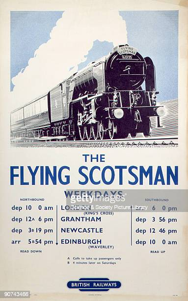 In 1950 the Flying Scotsman ceased to be a nonstop service However in this poster of the same period the newly established British Railways was keen...