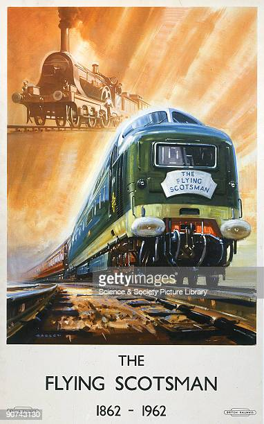 In 1962 British Railways Eastern Region introduced a fleet of twentytwo Deltic diesel electric locomotives This poster was produced to mark the...