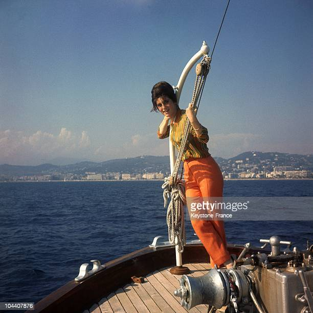 In 1967 the French singer SHEILA on a boat while on vacation on the French Riviera