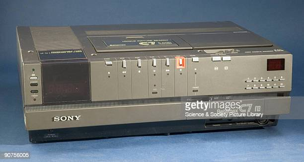 In 1975 Sony launched the Betamax domestic videocassette recorder in Japan. Using half-inch tape cassettes, the recorder became available in the UK...