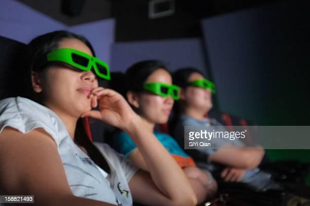 In a 3D cinema