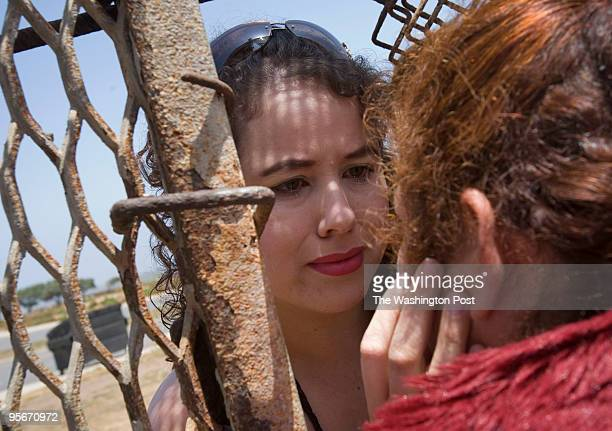 In a beachfront neighborhood of Tijuana Playas de Tijuana families from Mexico and the United States visit through the border fence on Mothers Day...