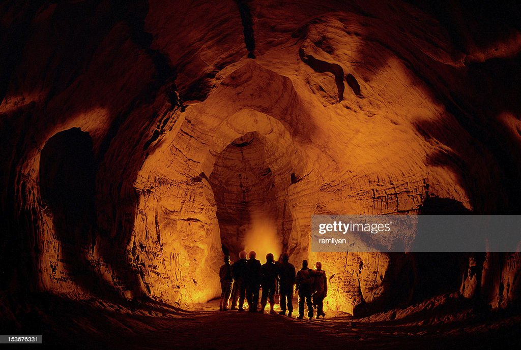 In a cave. : Stock Photo