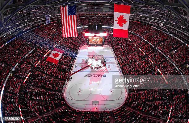 In a coordinated tribute with NHL games in Montreal and Toronto to honor Canadian soldiers who lost their lives this past week, members of the Ottawa...