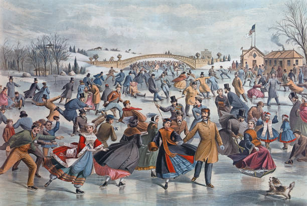 'Central-Park, Winter; The Skating Pond' Wall Art