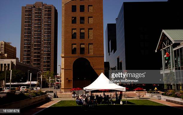 DENVER CO THURSDAY JULY 13 2006 In a effort to become more visible in downtown Denver Metro State College has pitched a tent and has been holding a...