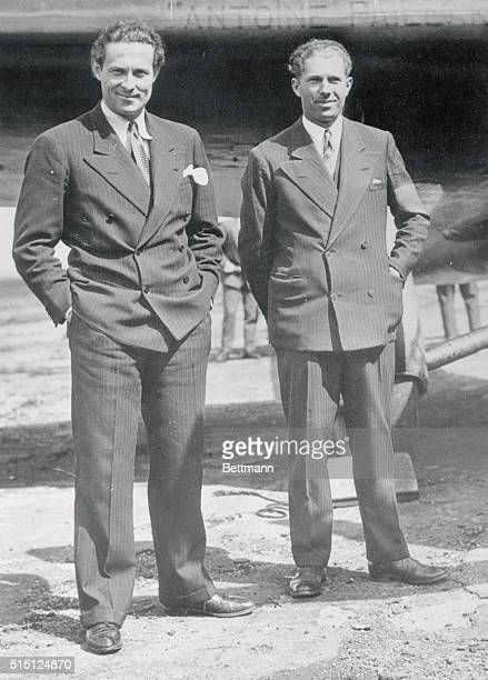 In a few days a determined assault on the long distance flight record will be made by a quartet of crack French fliers Jean Mermoz and Louis Mailloux...