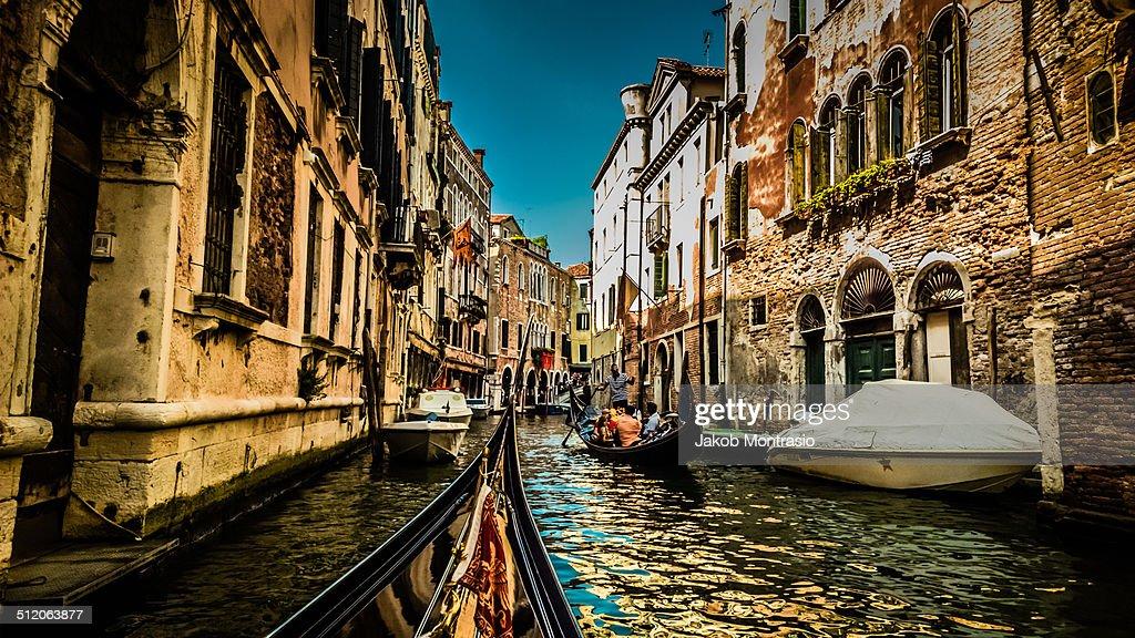 In a Gondola in Venice : Stock Photo