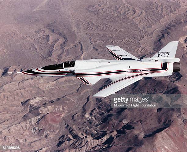 In a joint research project the Defense Advanced Research Projects Agency NASA and the US Air Force used a Grumman X29A with a fowardswept wing in...