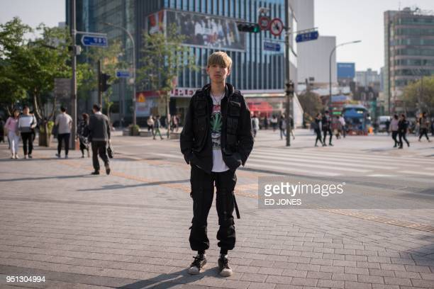 In a photo taken on April 26 2018 hip hop artist Choi Wonyoung poses for a portrait on a street in Seoul News of Friday's summit has been making...