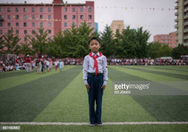 In a photo taken on June 6 2017 primary school student An JaeGwon poses for a portrait during a festive 'children's day' event at 'Primary School...