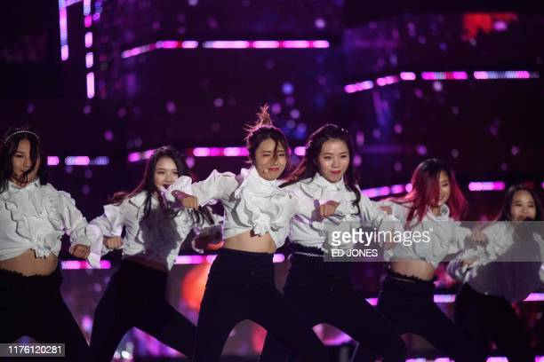 In a photo taken on October 11 competitors from Canada perform at the 'Kpop World Festival' in Changwon At the grandly titled and governmentfunded...