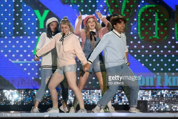 In a photo taken on October 11 competitors from New Zealand perform during the 'Kpop World Festival' in Changwon At the grandly titled and...