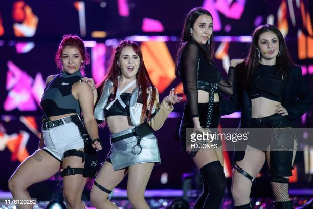 In a photo taken on October 11 competitors from Spain perform at the 'Kpop World Festival' in Changwon At the grandly titled and governmentfunded...