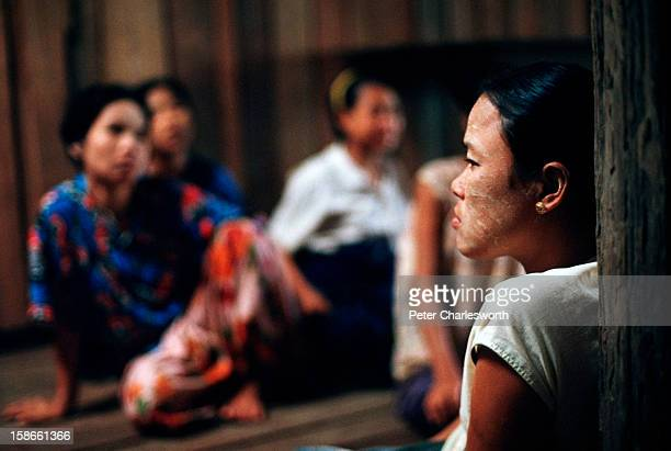 In a remote jungle hospital on the Thai/Burma border, pregnant women wait for the results of their blood checks for the malarial parasite. They are...