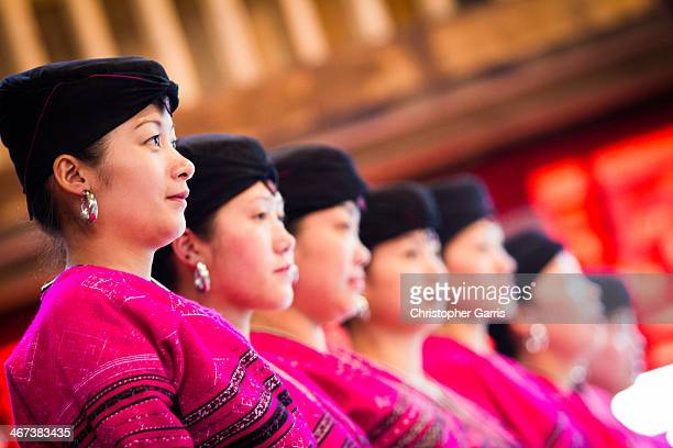 In a rural areas of the Guilin region, the women of the Yao ethnic minority group, often called the long-haired women of China, put on a traditional...
